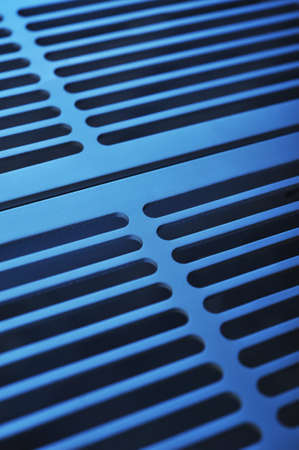 abstract industry background made of aluminum ventilation grids