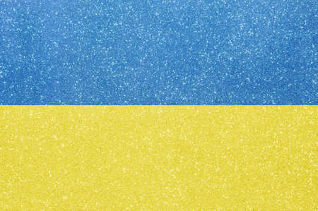 chorąży: the ensign of ukraine made of twinkling glittermaterial