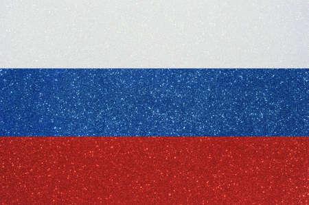 confederation: l'alfiere della confederazione russa fatta di scintillanti glittermaterial