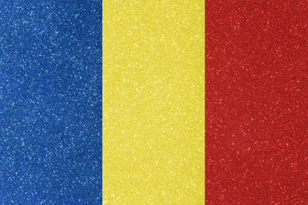twinkling: the ensign of romania made of twinkling glittermaterial