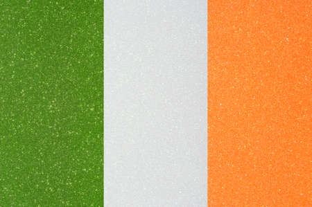 chorąży: the ensign of ireland made of twinkling glittermaterial Zdjęcie Seryjne