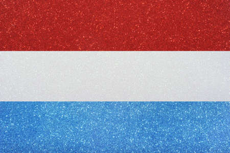 chorąży: the ensign of luxembourg made of twinkling glittermaterial