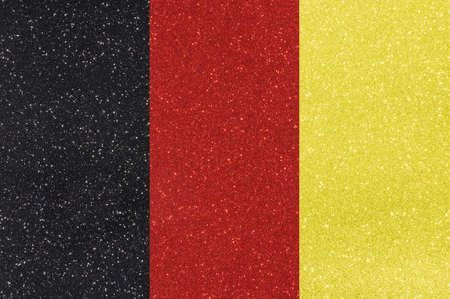 made in belgium: the ensign of belgium made of twinkling glittermaterial