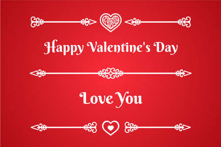 for example: vintage design elements template for text greetings for example as Valentines Day, love you, sign heart and line arrows with twirls vector color background white elements eps 10 rgb