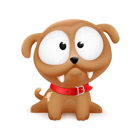 cute cartoonish color puppy illustration character