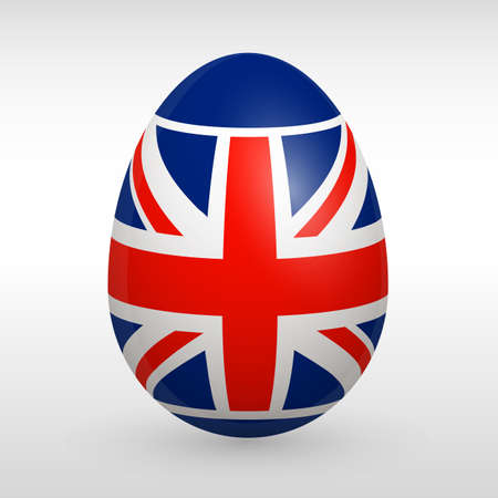 great britain flag: Easter eggs set with Great Britain flag image vector icon sign England flag easter sign Illustration