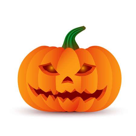 Happy Halloween Tag 3d Kürbis Gesicht Lächeln Kopf Licht Symbol