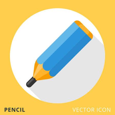 Pencil Flat Vector Icon