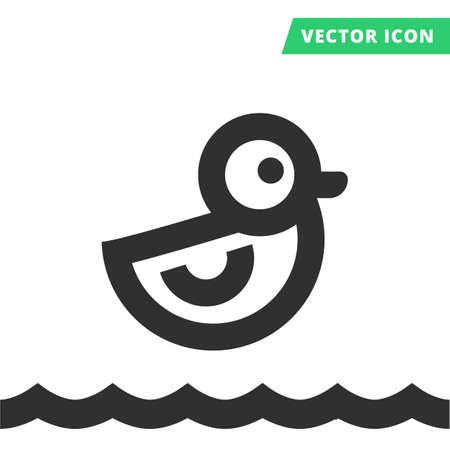 duck toy: Duck toy vector icon