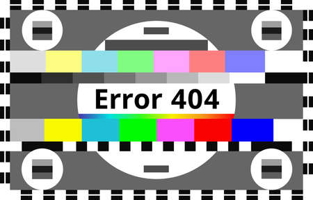 Error 404 Background Abstract TV Test Card, Test Pattern or Start-up Closedown test. Original Television Color Test Background Specially Simplified for Usage in 404 error page design.