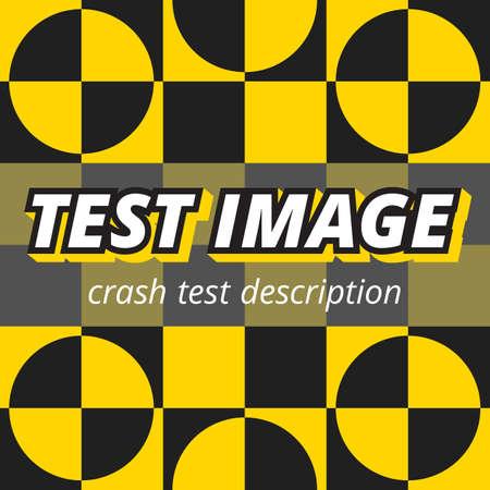 crash test style image screen color background Illustration