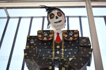 Half open plan of typical Mexican cardboard figure