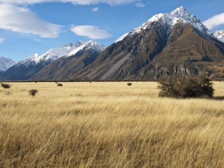 Mountain landscape, near Mount Cook, South Island, New Zealand photo