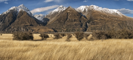 Mountain landscape, near Mount Cook, South Island, New Zealand