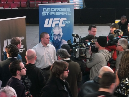 UFC 158  Georges St-Pierre vs  Nick Diaz official announcement press conference from Montreal Wednesday, January 23th 2013
