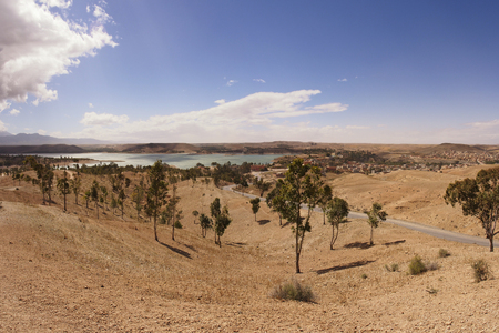 Lake in Atlas Mountains, Morocco, Africa  April 2013