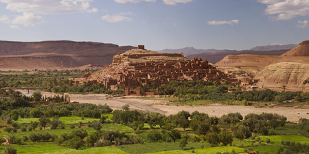 Ait Ben Haddou - April 13: Ait Ben Haddou near Ouarzazate on the edge of the Sahara Desert in Morocco. Famous for it use as a set in many films such as Lawrence of Arabia, Gladiator. Morocco, Apr 13, 2013.