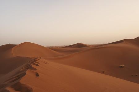 Chigaga dunes, Sahara desert. Morocco, Apr 16, 2013. Stock Photo