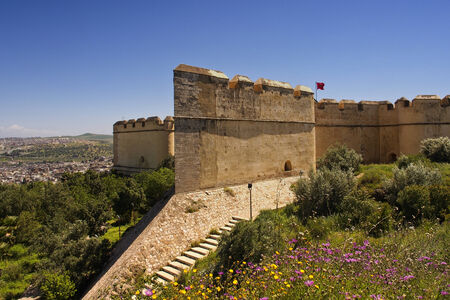 Fes - April 24: Fortress Borj Nord which contains an armaments museum, royal city of Morocco, Apr 24, 2013. Editorial