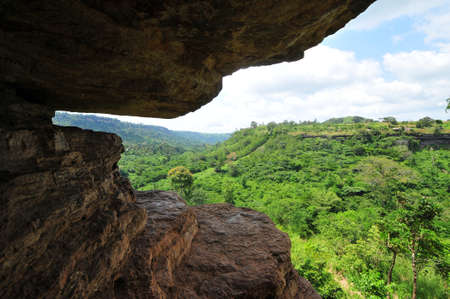 Umbrella Rock in the Yilo Krobo District, outside of Accra, Ghana Stock Photo