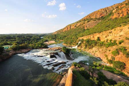 kilometres: Hartbeespoort Dam also known as Harties about 35 kilometres west of Pretoria. Stock Photo