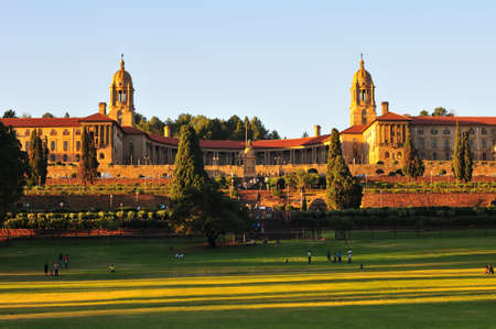 South African Union Buildings seen here at sundown Editoriali