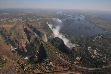 The Victoria Falls or Mosi-oa-Tunya  Tokaleya Tonga  the Smoke that Thunders; note that the  photo