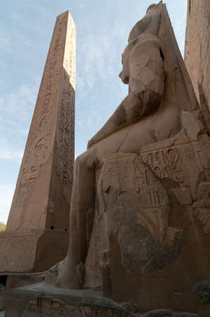 Pharoah and Obelisk at Karnak Temple, Luxor Stock Photo - 15796457