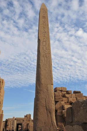 이집트 카르 나크 신전의 오벨리스크