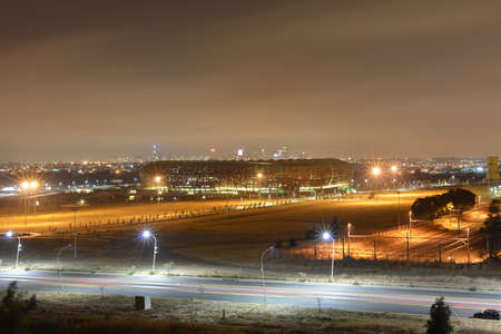 FNB Stadium, also known as Soccer City, is a stadium located in Nasrec, the Soweto area of Johannesburg, South Africa  The 2010 World Cup was held here