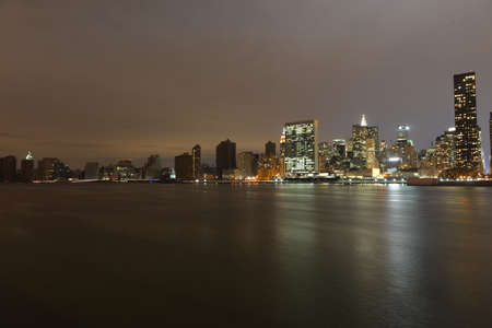 nightshot: Manhattan following Power Outage from Long Island City