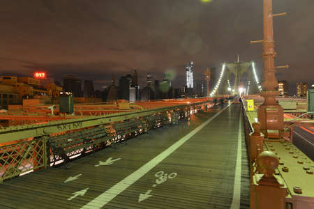 outage: View of Lower Manhattan following power outage as a result of Hurricane Sandy from Brooklyn Bridge