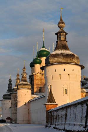 모스크바의 외부 황금 반지를 따라 크렘린 로스토프의 러시아 정교회, 스톡 콘텐츠