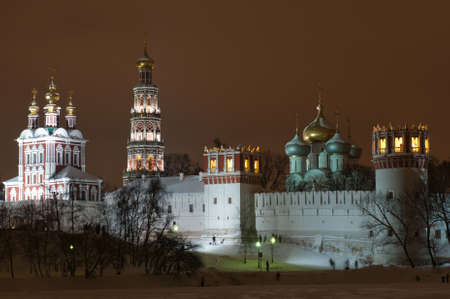 Novodevichy Convent. A cloister of Moscow, sometimes translated as New Maidens Monastery.