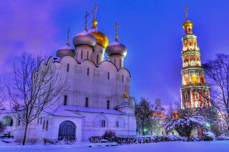Novodevichy Convent. A cloister of Moscow, sometimes translated as New Maidens' Monastery. 版權商用圖片