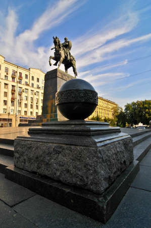 yuri: Yuri Dolgorukiy Statue in Moscow. In honor of the founder of Moscow. Editorial