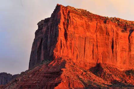 Monument Valley at Sunset. Stock Photo - 20557319