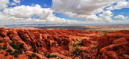 View of Arches National Park, Utah photo