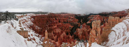 bryce canyon: Bryce Canyon covered in snow  Stock Photo