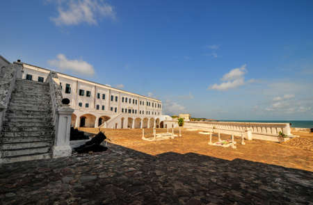 Cape Coast Castle is a fortification in Ghana built by Swedish traders for trade in timber and gold  Later the structure was used in the trans-Atlantic slave trade