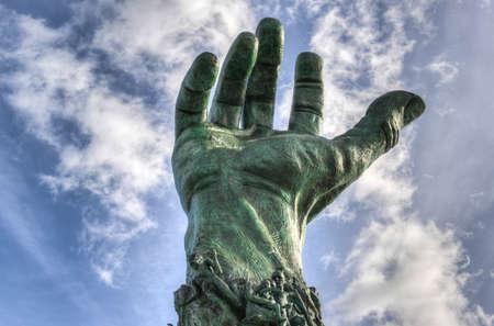 commemoration: Symbolic Bronze Hard of the Miami Holocaust Memorial
