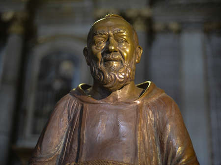 Wooden statue of a monk from the Metropolitan Cathedral in Mexico City, Mexico