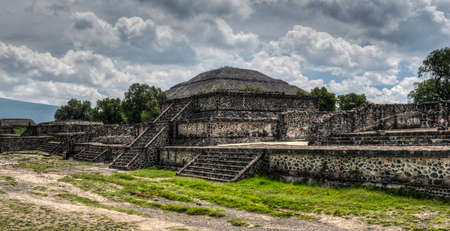 Pyramid of Teotihuacan, Mexico, once venerated by the Aztecs  photo