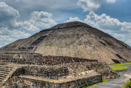 The Pyramid of the Sun of Teotihuacan  One of the largest buildings in Teotihuacan and one of the largest in Mesoamerica  photo