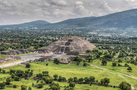 The ancient Pyramid of the Moon  The second largest pyramid in Teotihuacan, Mexico