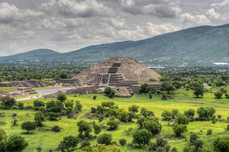 The ancient Pyramid of the Moon  The second largest pyramid in Teotihuacan, Mexico  photo