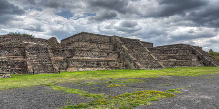 Pyramids of Teotihuacan, Mexico, once venerated by the Aztecs  Stock Photo
