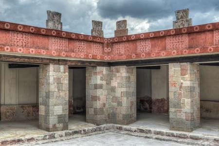 Palace of Quetzalpapalotl at Teotihuacan  Restored portion of Teotihuacan