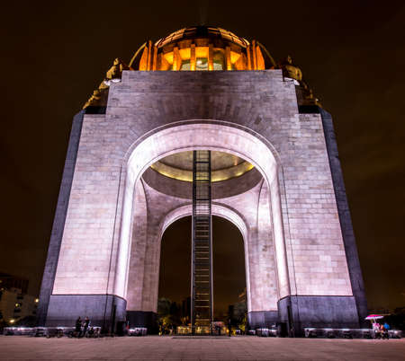 eclectic: Monument to the Mexican Revolution  Monumento a la Revolución Mexicana   Located in Republic Square, Mexico City  Built in 1936  Designed in the eclectic Art Deco and Mexican socialist realism style