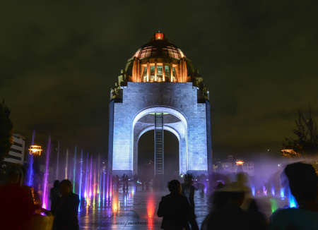 city square: Monument to the Mexican Revolution  Monumento a la Revolución Mexicana   Located in Republic Square, Mexico City  Built in 1936  Designed in the eclectic Art Deco and Mexican socialist realism style
